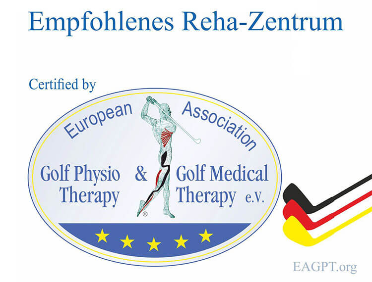 Logo Empfohlenes Reha-Zentrum: European Association Golf Physio & Medical Therapy e.V.